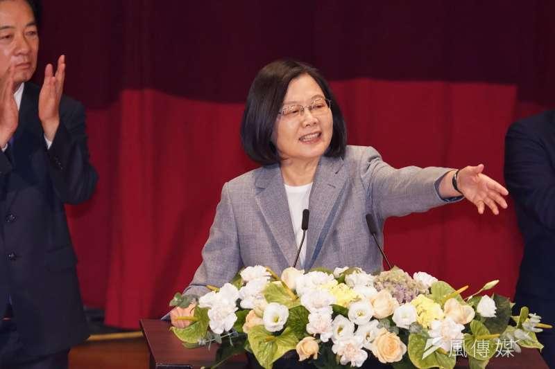 20200719-民進黨主席、總統蔡英文19日出席全代會時表示,不要讓「全面執政必定腐化」的劇本成真。(盧逸峰攝)