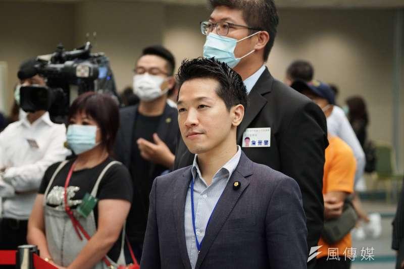20200719-立委何志偉19日出席民進黨全代會。(盧逸峰攝)