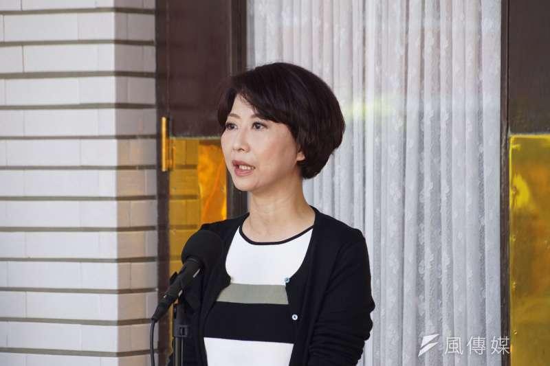 民進黨立委陳亭妃回應修憲問題。(資料照片,盧逸峰攝)