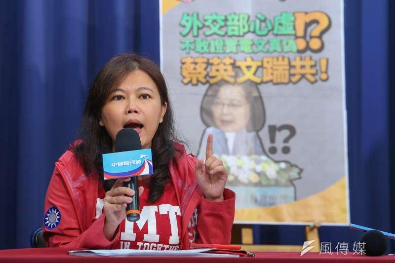 台北市議員游淑慧(見圖)質疑,立委與人力仲介業者一起私下出訪,拚的是誰的新南向?(顏麟宇攝)