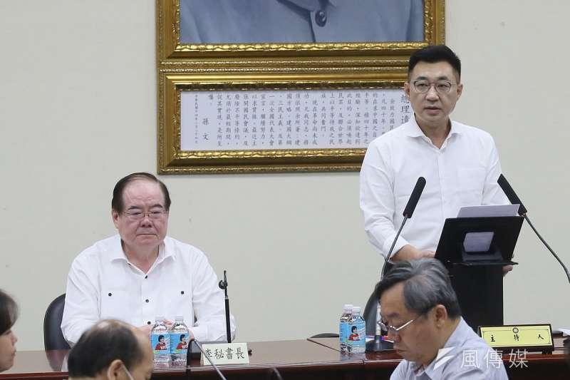 定調高雄市長補選是國民黨「起死回生」之戰的黨主席江啟臣壓力超大。(柯承惠攝)