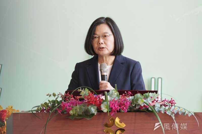 20200723-總統蔡英文23日出席亞洲生技大展開幕式。(盧逸峰攝)