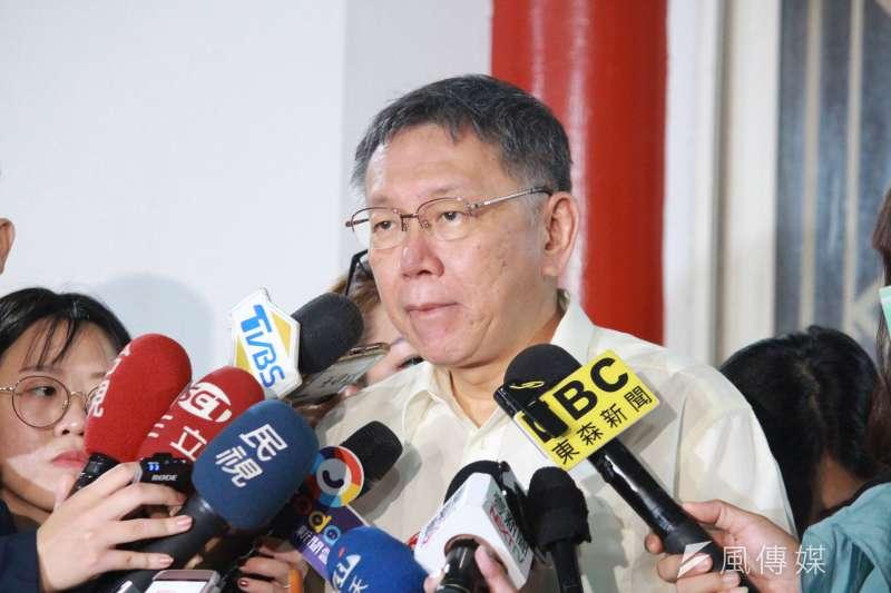 台北市長柯文哲(見圖)表示,前瞻二期預算「錢發下去不見得用得掉;用掉不一定有效果」。(資料照,方炳超攝)