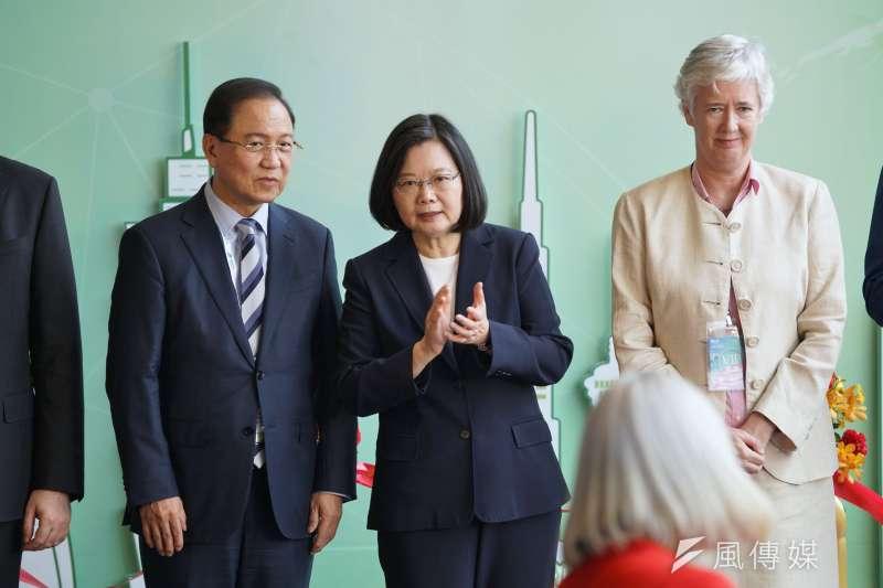 20200723-總統蔡英文23日出席亞洲生技大展開幕典禮。(盧逸峰攝)