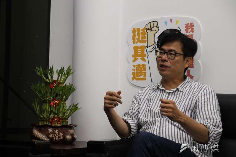 20200724-民進黨高雄市長補選候選人陳其邁接受《風傳媒》專訪。(黃信維攝)