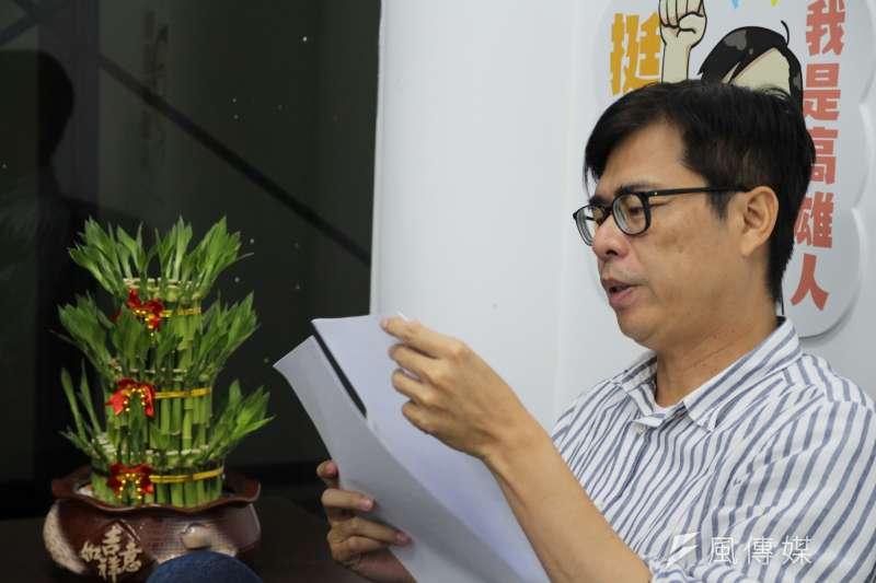 作者認為需要讓高雄市長補選候選人陳其邁再輸一次,民進黨才會得到教訓。(資料照,黃信維攝)
