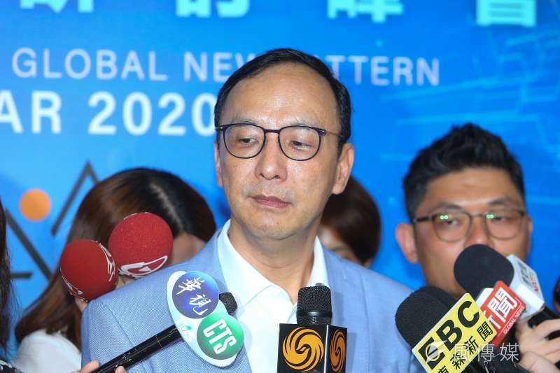 前新北市長朱立倫(見圖)表示,如果台美可以簽自由貿易協定(FTA)的話,那他和國民黨也願意一起來吃美豬。(資料照,顏麟宇攝)
