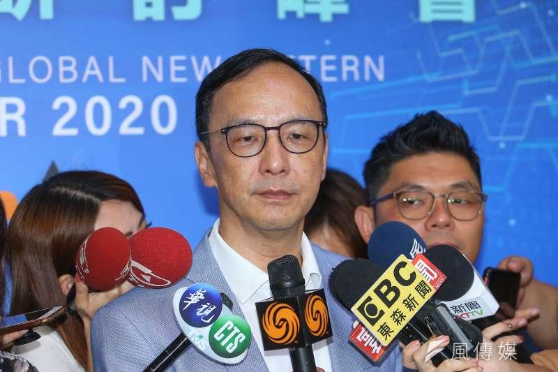國民黨前主席朱立倫(見圖)表示,台灣對美國總統大選絕對不可以押單邊,這是很大的風險。(資料照,顏麟宇攝)