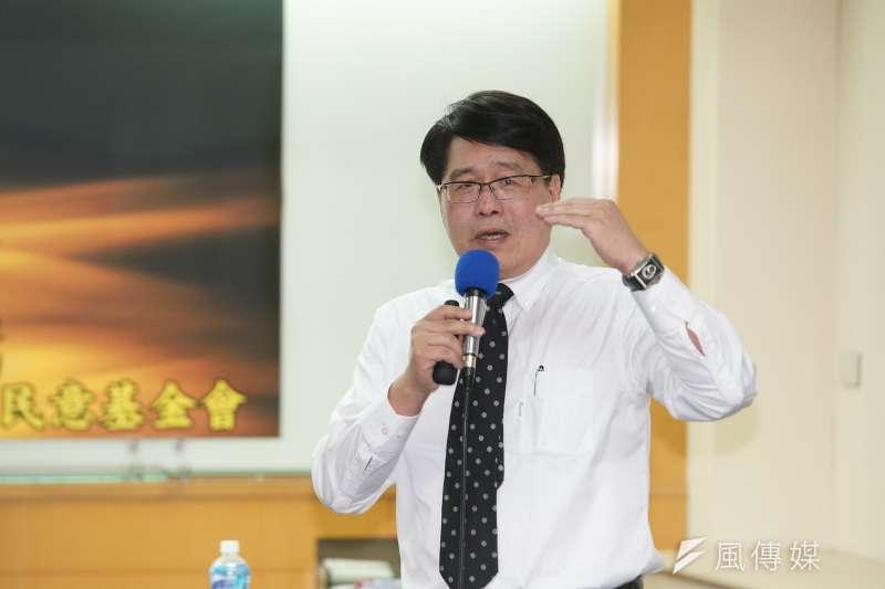 台灣民意基金會董事長游盈隆(見圖)認為國民黨在此時提出「台美復交」,是一石二鳥的神來之筆。(資料照,盧逸峰攝)
