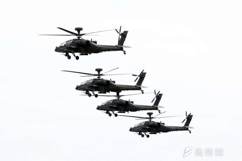 陸軍採購30架AH-64E「守護者」阿帕契攻擊直升機的「天鷹專案」近期結案,剩下1筆數目可觀的軍購結餘款,外界關注款項動向。(蘇仲泓攝)