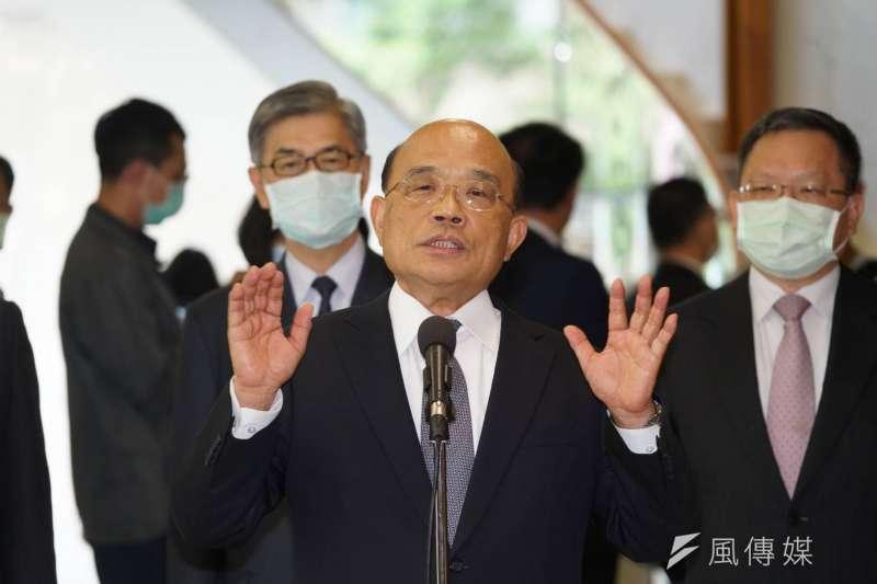 台南市議員謝龍介批行政院長蘇貞昌(見圖)以《社維法》打壓言論自由。(資料照,顏麟宇攝)