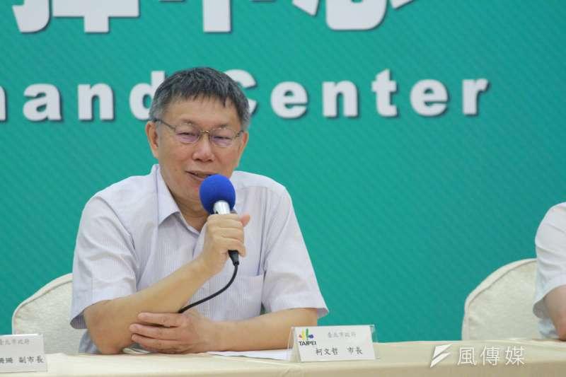 台北市長柯文哲(見圖)質疑,跨黨派立委收賄案,民進黨團總召柯建銘知道為何不講?(資料照,方炳超攝)