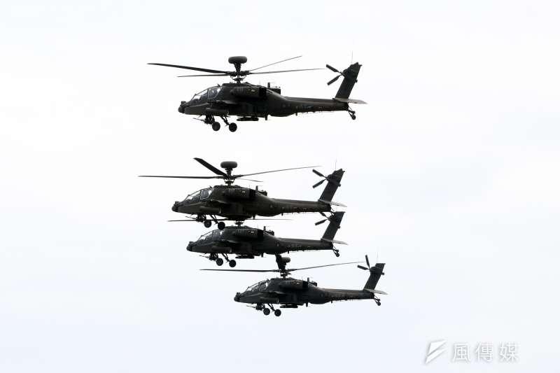 陸軍航特部欲前進台東部署具一定戰略意義,突顯陸航直升機近年在阿帕契(見圖)、黑鷹直升機陸續歸國成軍服役後,已然成為足以改變戰局走勢的關鍵戰力。(蘇仲泓攝)