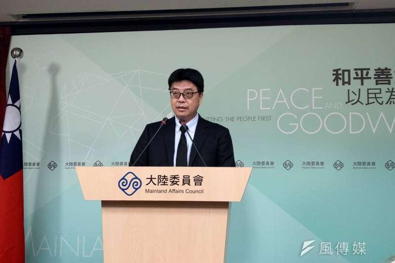 陸委會發言人邱垂正指出,政府未來會持續通盤審酌香港與兩岸情勢、中共與港府作為、主要國家政策等因素,檢視調整台港次序交流與規範。(資料照,潘維庭攝)