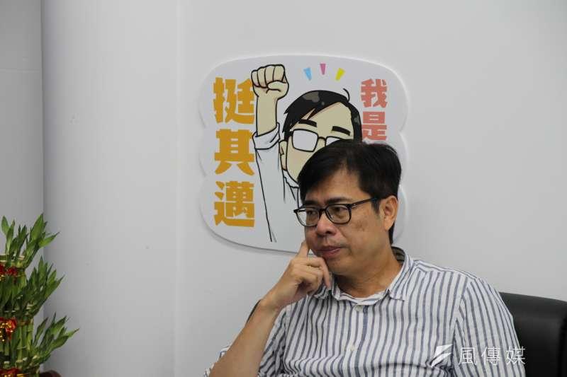 20200730-高雄市長補選倒數,民進黨候選人陳其邁接受《風傳媒》專訪。(黃信維攝)