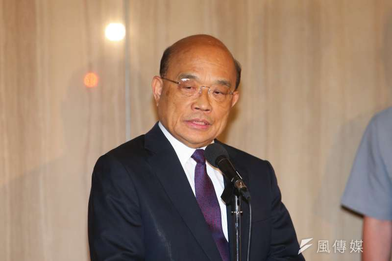 20200731-行政院長蘇貞昌31日出席「2020台灣資本市場論壇開幕式」。(顏麟宇攝)