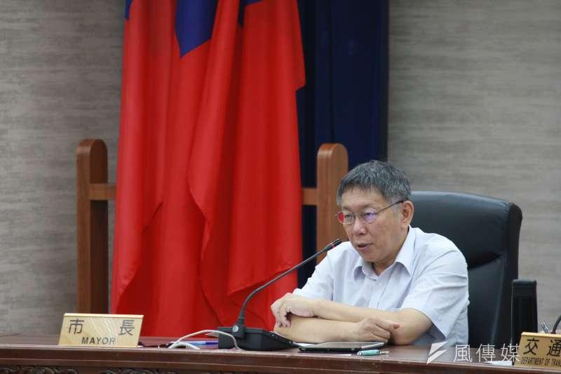 針對「再逼幾個自殺就可以了」一說,台北市長市長柯文哲1日坦言,這樣的說法不妥當。(資料照,方炳超攝)
