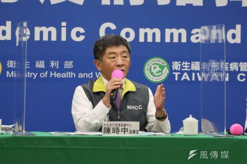 中央流行疫情指揮中心指揮官陳時中表示,若入境普篩,將會耗費8億元。(資料照,盧逸峰攝)