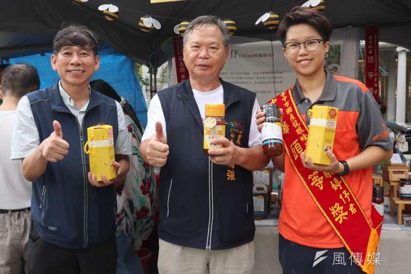 「台中蜂華‧風華再現」活動,台中市府農業局以台中蜂華品牌協助蜂農行銷。(圖/王秀禾)