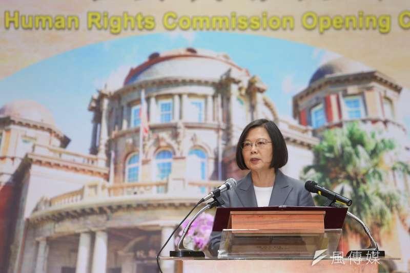20200801-總統蔡英文1日出席國家人權委員會揭牌儀式。(顏麟宇攝)