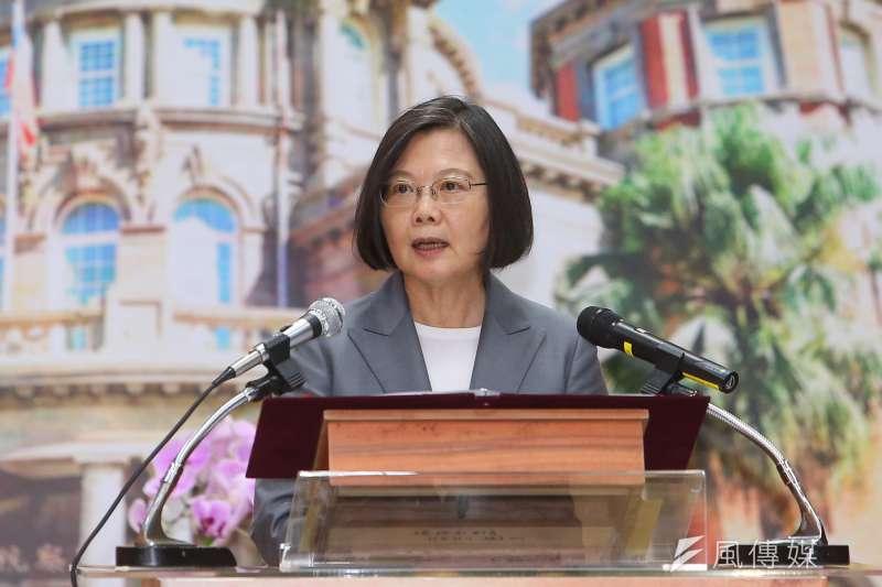 蔡英文總統在第一任期所說的讓臺灣「站在世界抵抗中國的最前線」,對台灣實為不利。(顏麟宇攝)