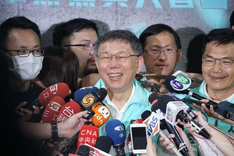 台灣民眾黨主席柯文哲(見圖)認為,高雄市長補選電視政見發表會上,民眾黨候選人吳益政的表現最好。(盧逸峰攝)