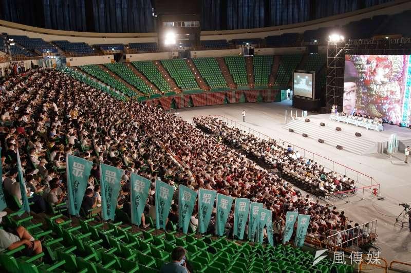 20200802-台灣民眾黨2日舉行黨員大會,現場黨員出席踴躍。(盧逸峰攝)