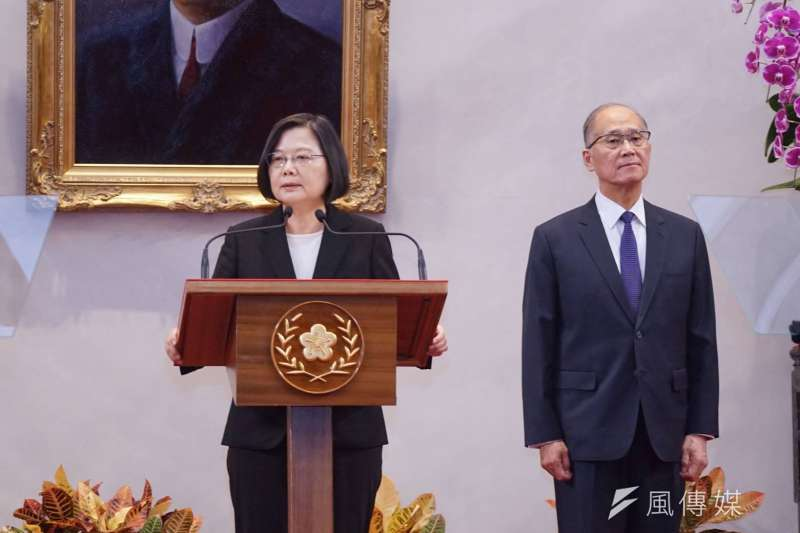 總統蔡英文宣布李大維出任總統府祕書長。(盧逸峰攝)