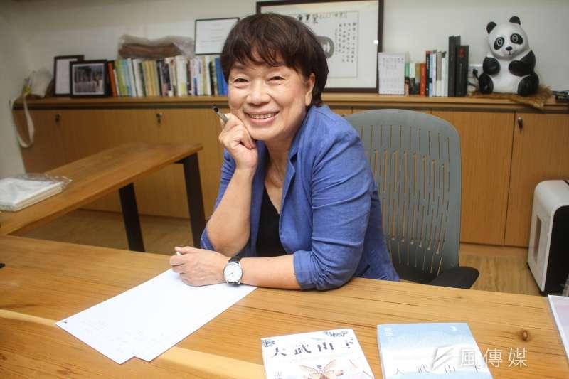 20200803-「龍應台文化基金會」創辦人龍應台3日接受專訪。(蔡親傑攝)