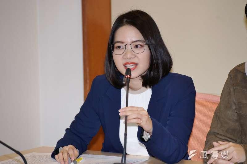 20200803-台北市議員黃郁芬5日出席記者會。(盧逸峰攝)