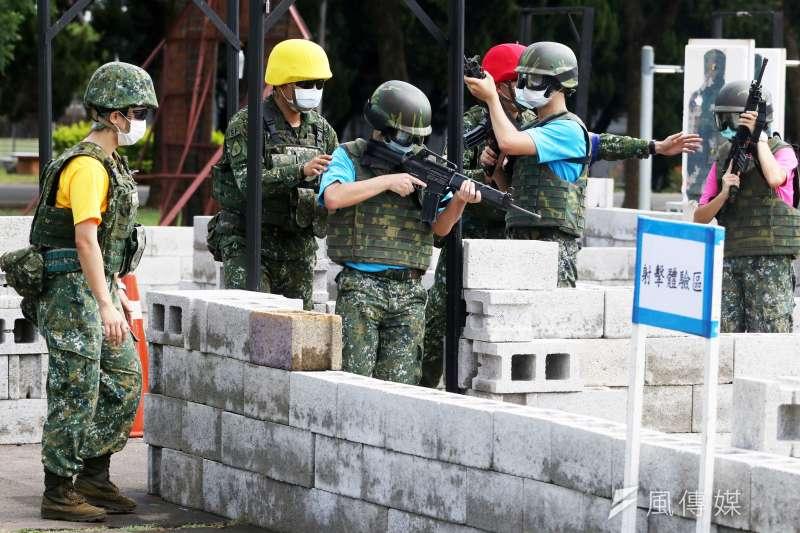 20200805-國防部今(5)日特別開放其中之一、今年首次舉辦的「特戰體驗營」供媒體採訪。(蘇仲泓攝)