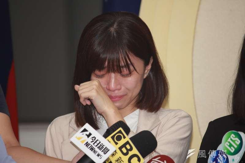 台北市議員林穎孟表示,退出時代力量後,加不加入政黨目前不在考量。(方炳超攝)