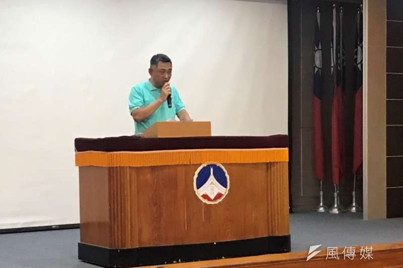 金門縣長楊鎮浯致詞表達國防部在政府國防廉潔上由衷的敬意。(圖/楊經緯攝)