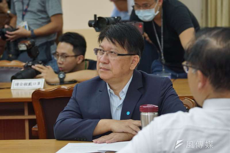 20200806-內政委員會6日赴陸委會考察臨時移師立法院,立委林思銘出席。(盧逸峰攝)