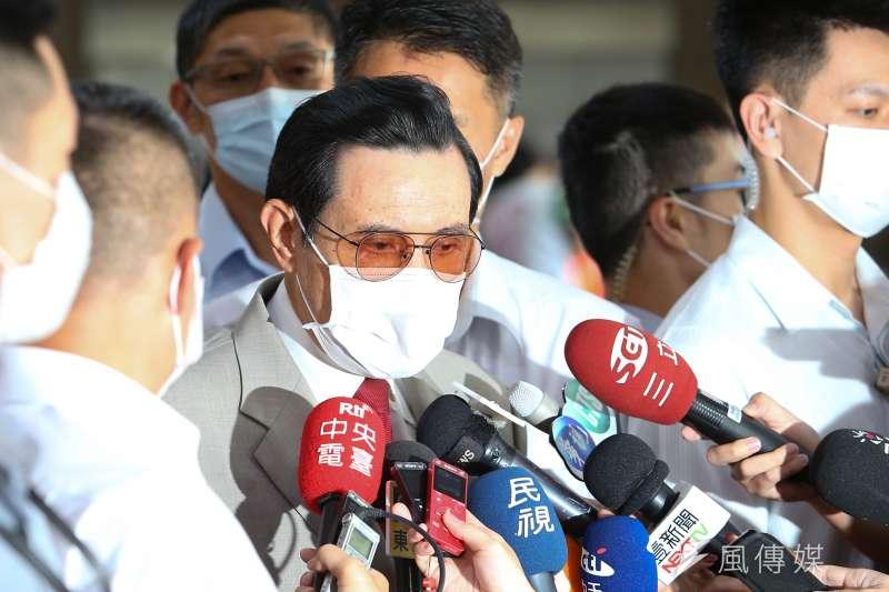 前總統馬英九8日出席「肝病防治學術基金會26周年慶」,對於境外生來台排除陸生,痛批「太不像話」。(顏麟宇攝)