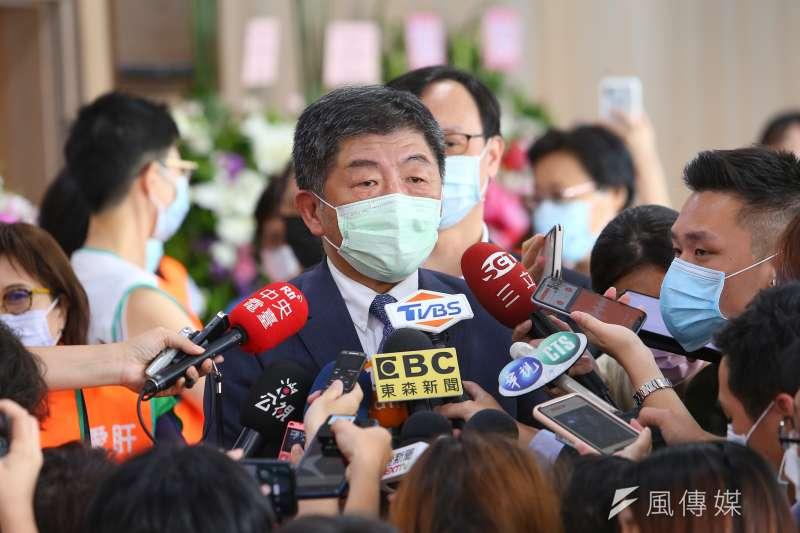 20200808-衛福部長陳時中8日出席「肝病防治學術基金會26週年慶」。(顏麟宇攝)