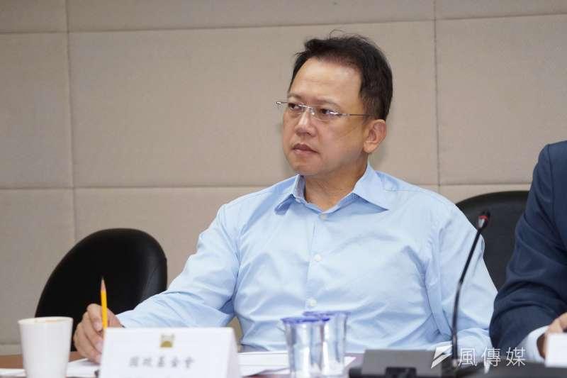 20200810-國政基金會執行長周守訓10日出席「新冠疫情對全球與台灣經濟的影響與因應座談會」。(盧逸峰攝)