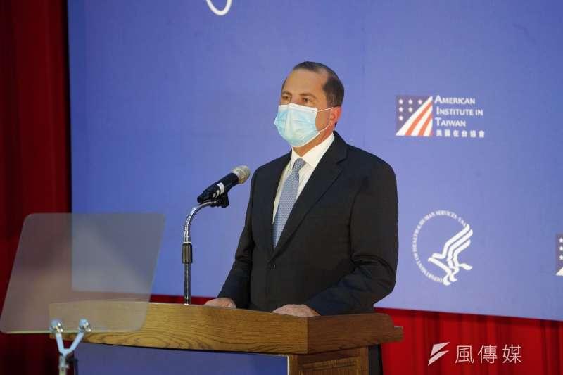 美國衛生部長艾薩(見圖)訪台,然而晉見總統蔡英文時卻因用字意外引發爭議。(資料照,盧逸峰攝)