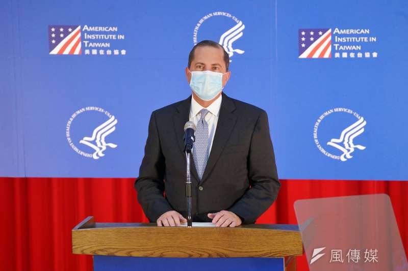 20200811-美國衛生部長艾薩11日於台大公衛學院演講。(盧逸峰攝)