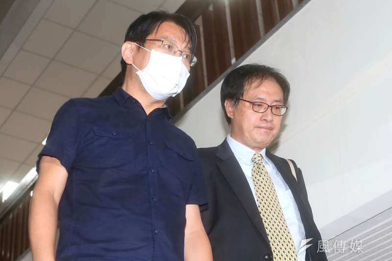 徐永明(左)的律師陳恆寬(右)粉碎了檢方「10勝」夢想。(林瑞慶攝)