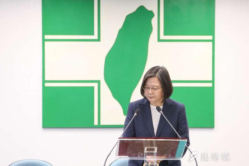 20200812-總統蔡英文12日於中常會針對香港議題發表談話。(顏麟宇攝)