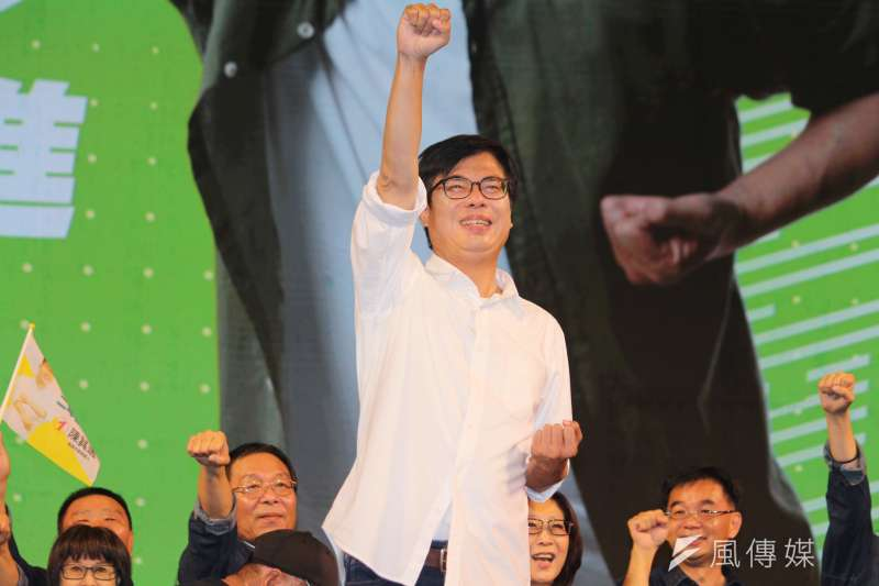 高雄市長補選結果出爐,民進黨候選人陳其邁拿下7成選票。(黃信維攝)