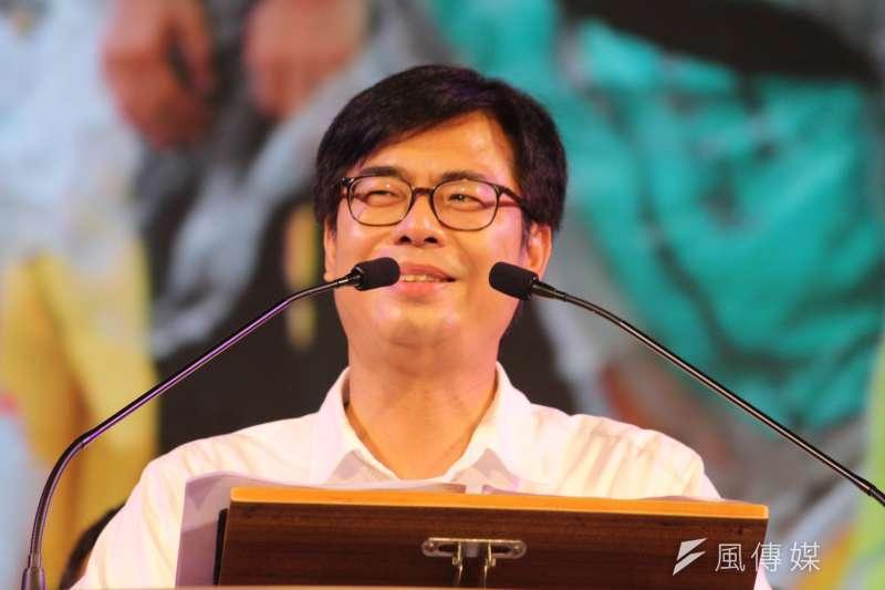 台灣民意基金會最新民調顯示,在六都市長中,高雄市長陳其邁(見圖)是全台民眾最不欣賞的直轄市長,有25.5%民眾都表示最不欣賞他。(資料照,黃信維攝)