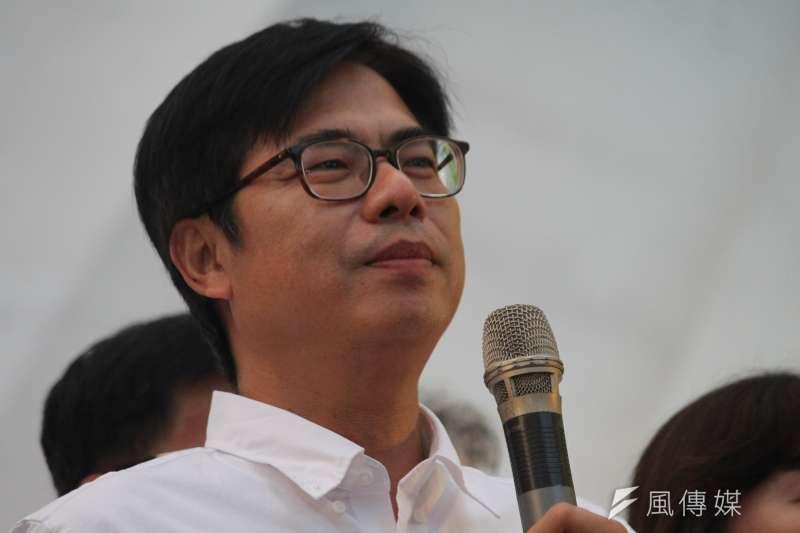 高雄市長補選結果出爐,民進黨候選人陳其邁(見圖)高票當選。(資料照,黃信維攝)