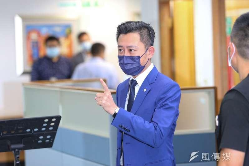20200819-新竹市長林智堅19日出席民進黨中常會。(顏麟宇攝)