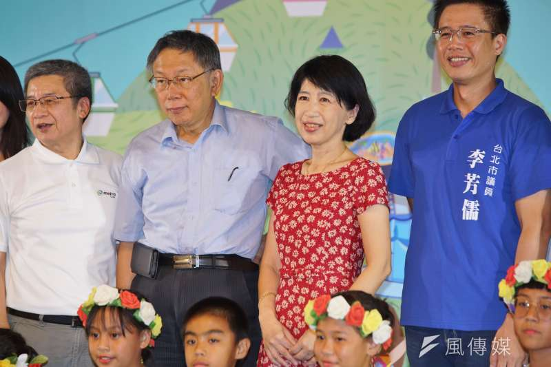 台北市長柯文哲的夫人陳佩琪(紅衣)不滿被黑「後宮干政」,在臉書抱怨「我有如此不堪惡劣到令人生厭?」(資料照,盧逸峰攝)