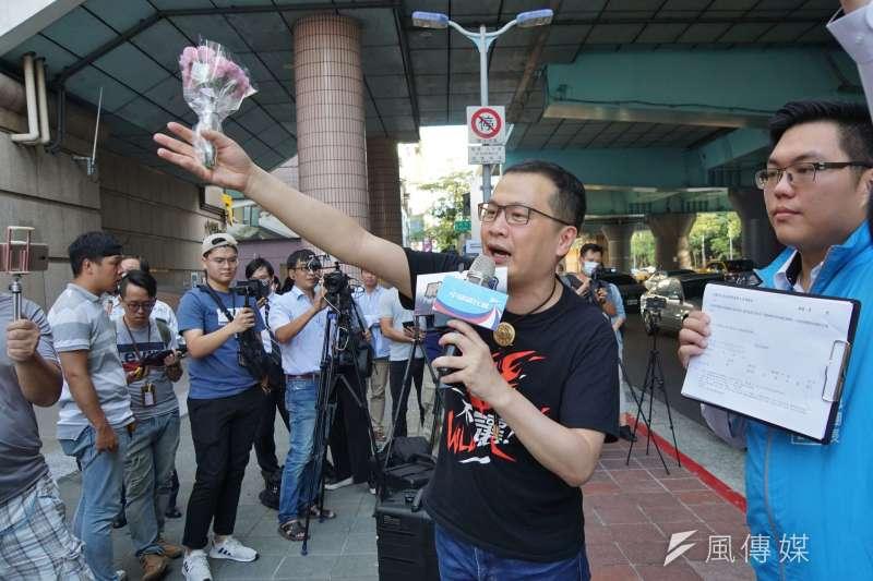 國民黨立委林為洲在臉書發文,替宣布參選台北市長的同黨北市議員羅智強(見圖)加油。(資料照,盧逸峰攝)