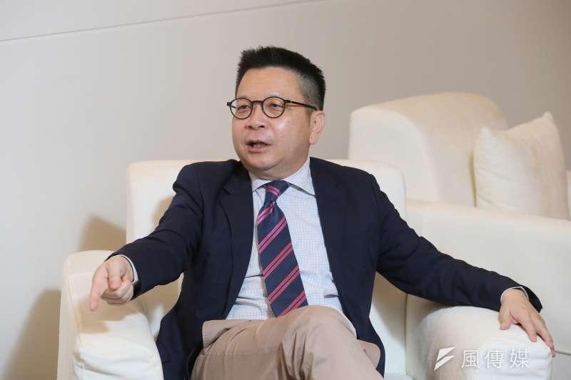 專訪基富通董事長林修銘,林修銘表示:「定期定額雖是老掉牙的概念,卻是多數民眾最受用的投資利器」 (柯承惠攝)