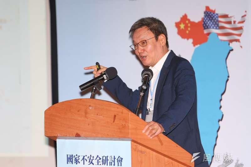 前國安會秘書長蘇起22日出席「國家不安全研討會:台灣如何轉危為安」,針對兩岸及美中局勢進行說明。(資料照,顏麟宇攝)