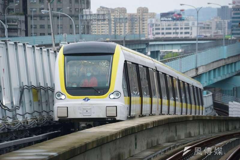 20200823-捷運環狀線列車。(盧逸峰攝)